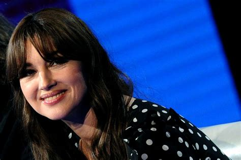 monica bellucci smiling monica bellucci on italian talk show in milan celebzz