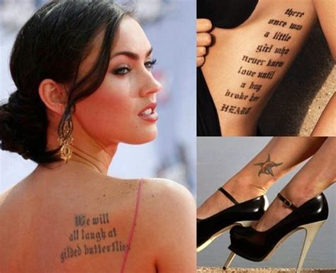 hottest female celebrity tattoos fashion trend love