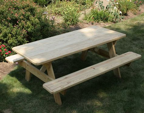 picnic table with attached benches using a picnic table inside out fifthroom living