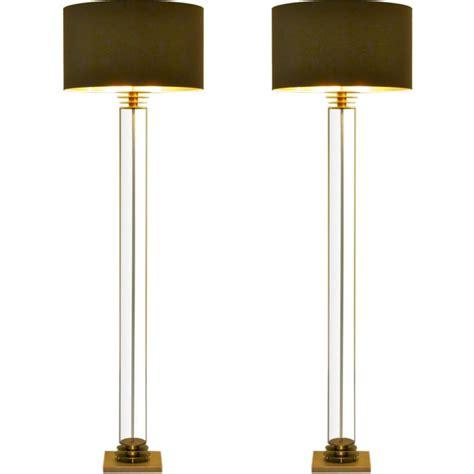 Pair Custom  Glass Column Floor Lamps  Stdibs