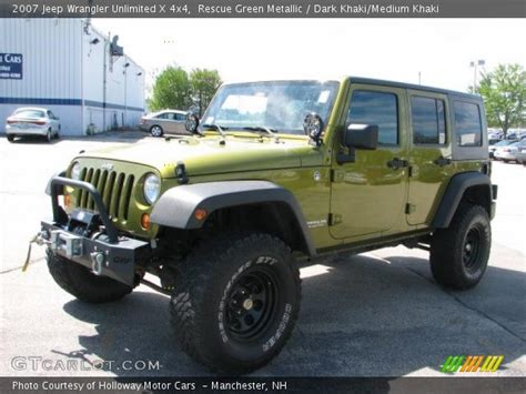 2007 Jeep Wrangler Green Rescue Green Metallic 2007 Jeep Wrangler Unlimited X 4x4