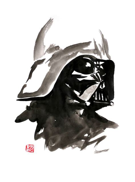 saatchi art darth vader painting by pechane sumie