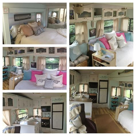 rv ideas renovations 5th wheel cer rv renovation and decorating great ideas