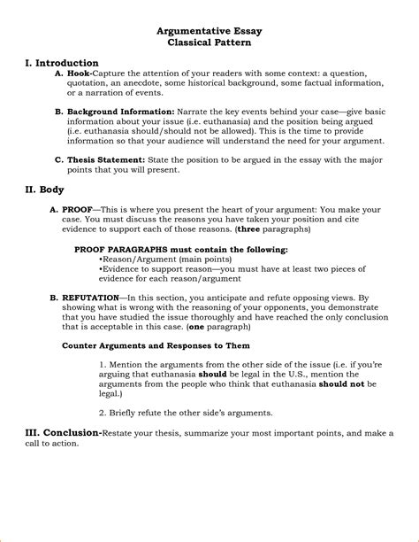Argumentative Essay Outline Exle by Argumentative Essay Outline 23371354 Png Questionnaire Template
