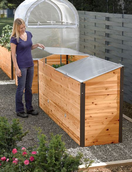 grow house greenhouse elevated raised bed  cold