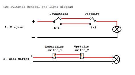 4 switches one light two switches controlling one light wiring diagram with