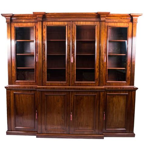 antique mahogany bookcase circa 1850 for