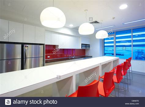 modern commercial kitchen modern commercial kitchen lunch room stock photo