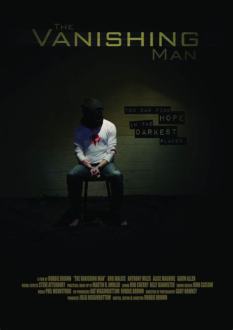 the vanishing man in the vanishing man 2016 poster 1 trailer addict