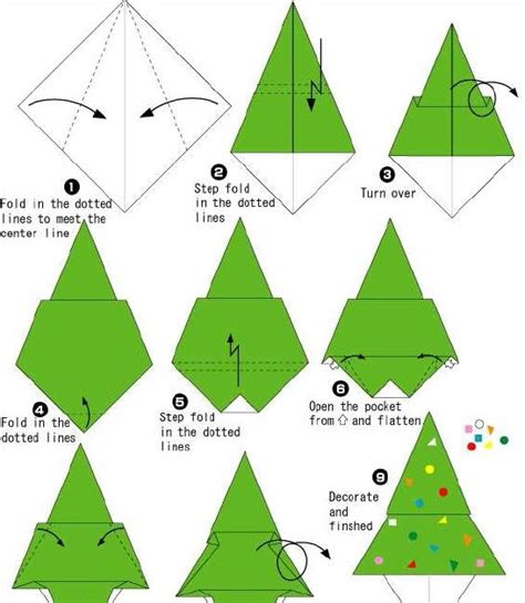 step by step christmas tree oragami wiki with pics how to make origami how to make origami tree