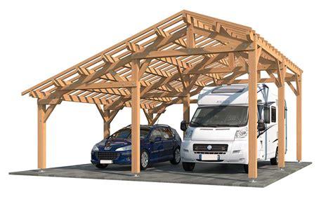 carport größe carport bois toit 2 pentes en kit oxalis cing car