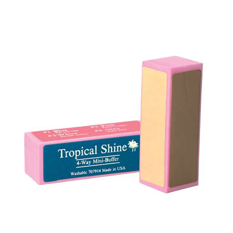 Nail Buffer by Tropical Shine 4 Way Mini Nail Buffer Block