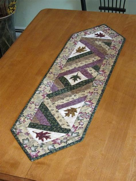 leaf pattern table runner 488 best images about leaf quilts on pinterest