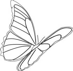 Flying Butterfly Outline butterfly flying clip at clker vector clip royalty free domain
