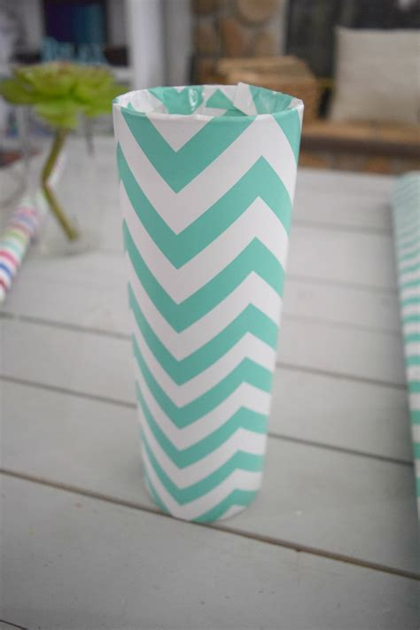 Paper Glass Craft - diy my glass vase and wrapping paper craft our