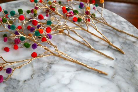 craft lightning christmas pom pom branches aunt peaches