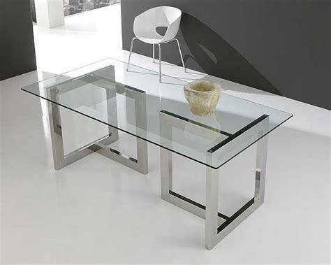mesa de cristal  acero inox en  home mesas de