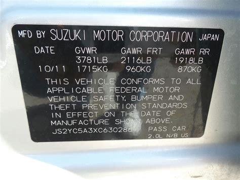 Suzuki Engine Numbers by Suzuki Vin Decoder