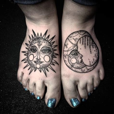 sun foot tattoo collection of 25 sun and moon tattoos on