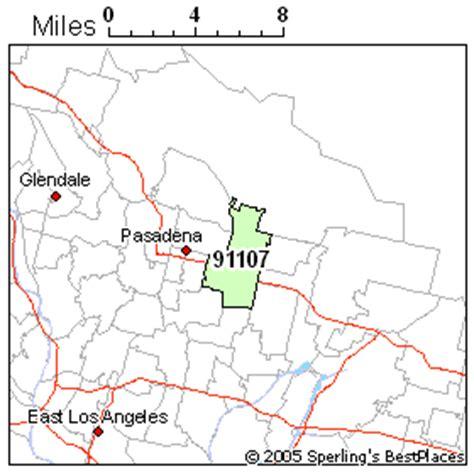 zip code map pasadena ca best place to live in pasadena zip 91107 california