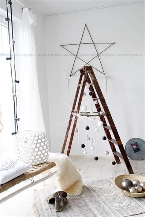 gestell weihnachtsbaum diy leiter weihnachtsbaum