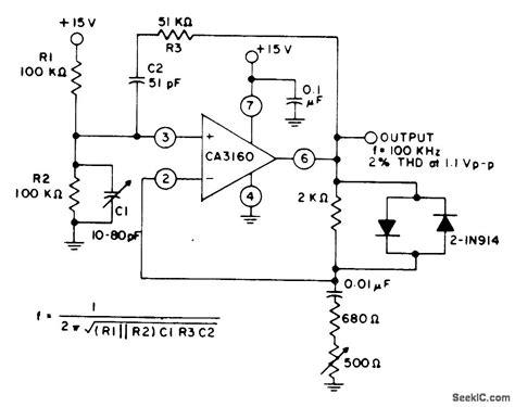 diode stabilised wien bridge oscillator diode stabilized wien bridge oscillator 28 images wien bridge oscillator with zener diode