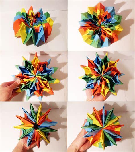 How To Make Origami Fireworks - origami maniacs origami firework by yami yamauchi