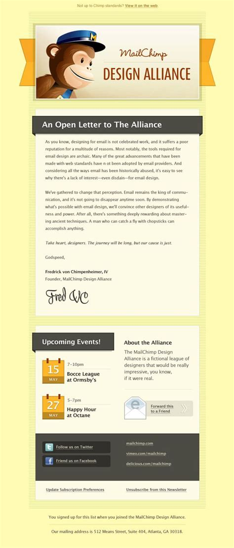 Mailchimp Newsletter Emails Pinterest Behance News And Galleries How To Send A Template In Mailchimp