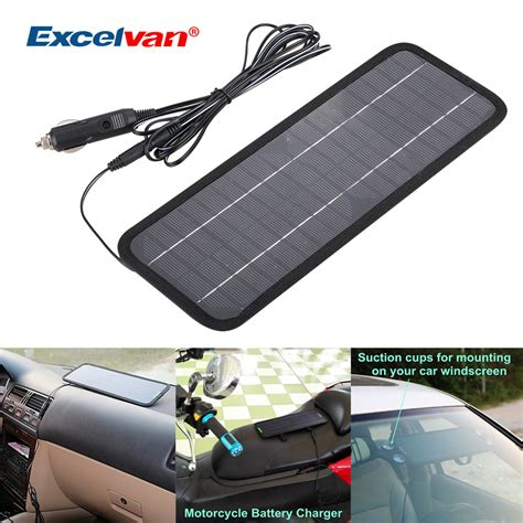 how to build a solar battery charger 12v 12v 4 5w portable solar panel power battery charger backup