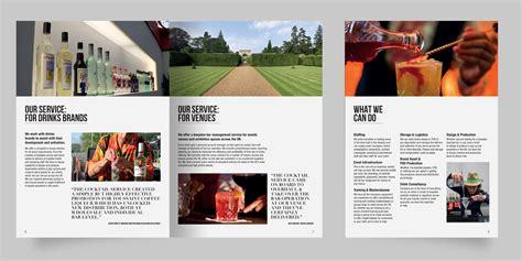 services brochure brochure design for an innovative cocktail drinks service
