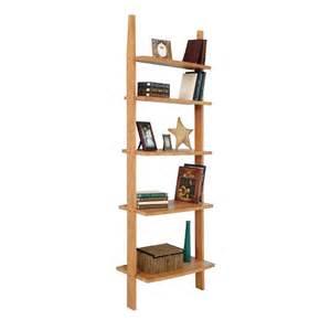 modern wooden ladder style bookshelf solid wood vermont made
