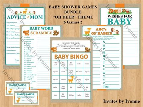 Bundle Of Baby Shower Theme by Baby Shower Bundle Oh Deer Theme 6