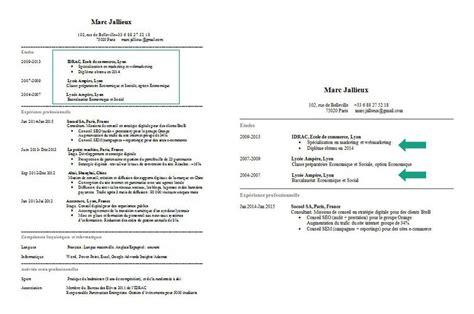 Taper Un Cv by Comment Faire Un Cv Guide Complet