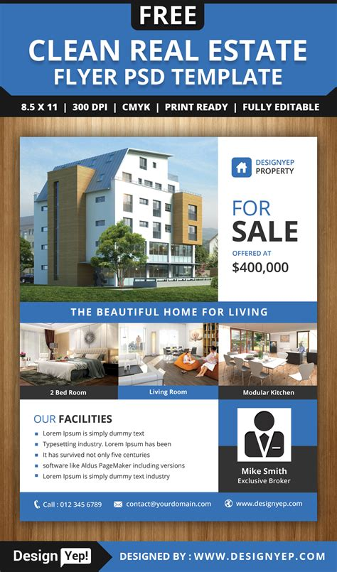 real estate flyer template free design templates archives templates vip