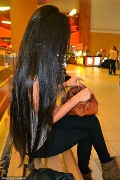 photos of lovely dark black long silky hairs of indian chinese girls in braided pony styles shiny long black hair hair spiration pinterest