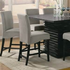 height piece rich: brownville counter height  piece dining table set in rich black with