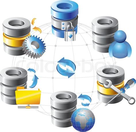 Best Free Search Database Database Web Hosting Icons Stock Vector Colourbox