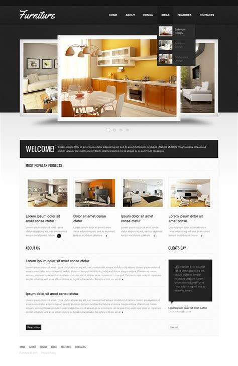 Furniture Website Template 36296 Furniture Website Templates Free