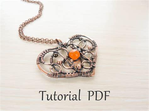 jewelry pdf jewelry tutorial diy project pdf tutorial wire wrapped