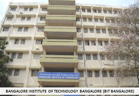 Mba In Quality Management In Bangalore by Bangalore Institute Of Technology Bangalore Mba Program