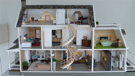 modern dolls house full view of inside marionrussek glenwood dollhouse diary of construction fantastic