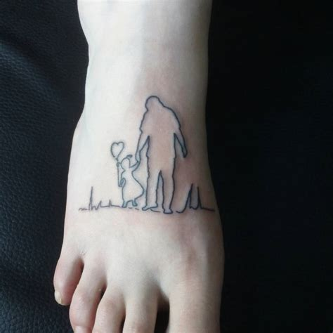 father and daughter tattoos foot ideas chhory