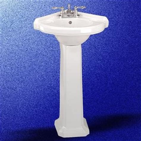 Corner Pedestal Bathroom Sink by Portsmouth Corner Pedestal Sink White 32 3 4in H