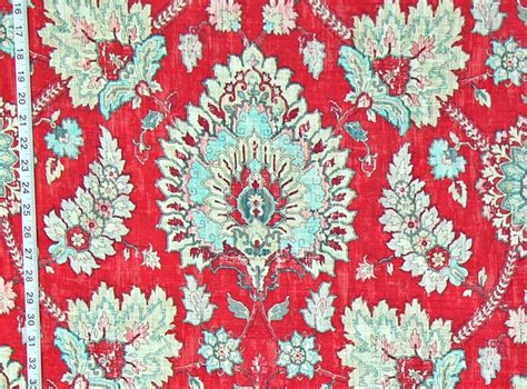 house of fabrics raspberry red indiennes and jacobean fabrics fabrics of