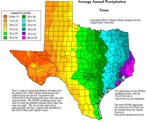 texas rainfall map texas precipitation map