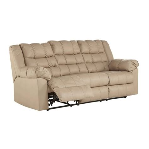 brolayne leather reclining sofa in beige 8320188
