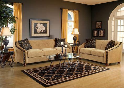 bella coffee beige fabric living room sofa loveseat set