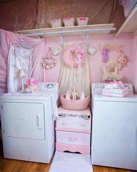 olivia s romantic home shabby chic pink laundry room