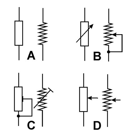 what is a variable resistor for electronic symbols variable resistance clipart best