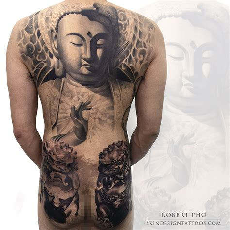 in progress buddha back piece tattoo skin design tattoo